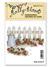 Rubber Stamp - Mollys Strawberry Patch
