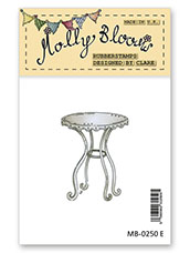 Rubber Stamp - Mollys Bistro Table