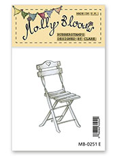 Rubber Stamp - Mollys Bistro Chair