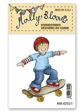 Rubber Stamp - Skateboarding George