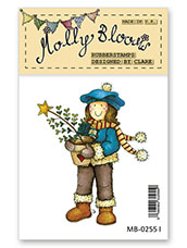 Rubber Stamp - O Christmas Tree Molly