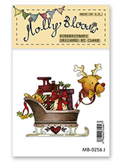 Rubber Stamp - Santas Toy Filled Sleigh