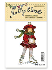 Rubber Stamp - Molly Ice Skating