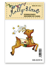 Rubber Stamp - Roxy the Reindeer