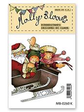 Rubber Stamp - Santas Sleigh Ride
