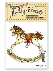 Rubber Stamp - Rolo the Rocking Horse