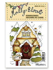 Rubber Stamp - Christmas Cottage