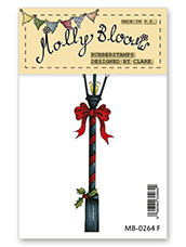 Rubber Stamp - Festive Lamppost