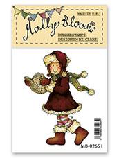 Rubber Stamp - Fa la la la la Molly