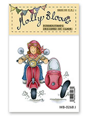 Rubber Stamp - Moped Molly