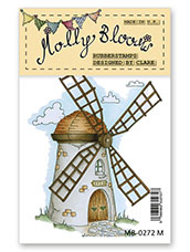 Rubber Stamp - Whimsical Windmill