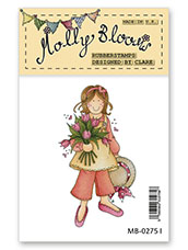 Rubber Stamp - Tulips for You Molly