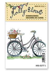 Rubber Stamp - Mollys Flower Bicycle