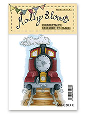 Rubber Stamp - All Aboard Steam Train