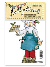 Rubber Stamp - Jolly Nice Pies Santa